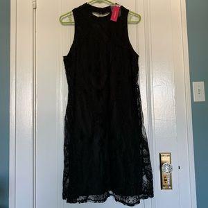 Xhilaration black lace halter dress